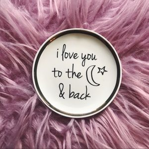 Love You To The Moon Trinket Dish